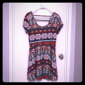 Tribal fit and flare dress
